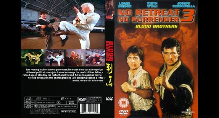 No Retreat, No Surrender 3: Blood Brothers (1990) DVD Cover
