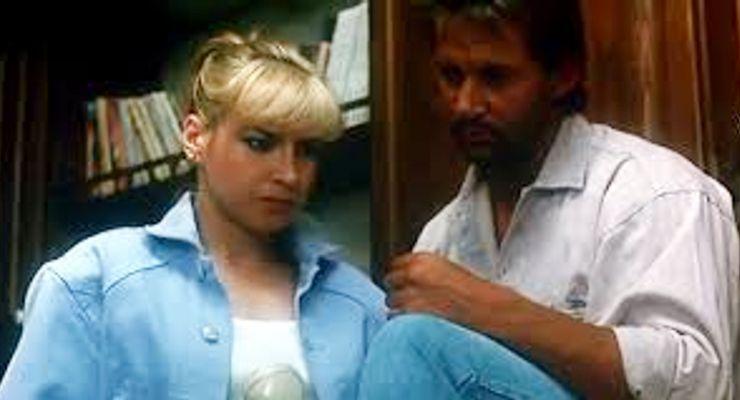 Cynthia Rothrock and Richard Norton in China O'Brien (1990).