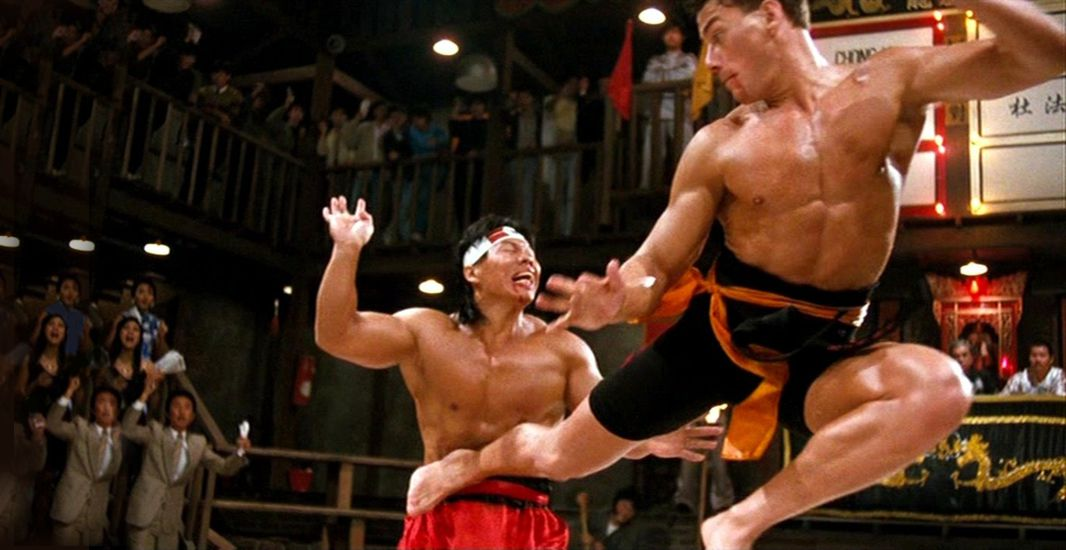 Jean-Claude Van Damme and Bolo Yeung in The Go-Go Boys