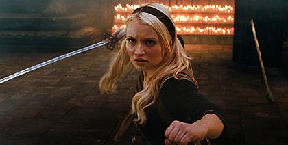 Babe wielding a sword
