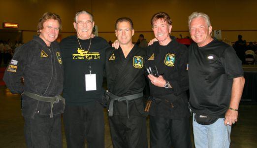 fAaron Norris, Tip Potter, Reggie Cochran, Chuck Norris and Duke Tirschel
