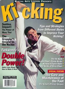 Andre Lima on the cover of Kicking Magazine