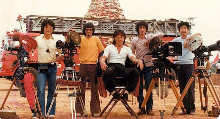 Jackie Chan on the set of Dragon Lord (1982)