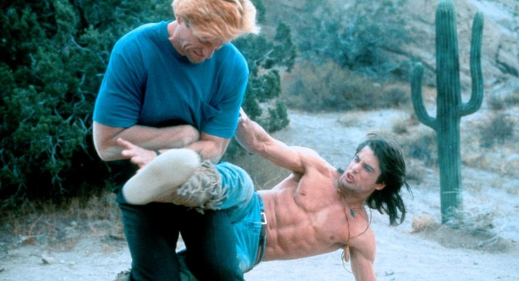 Michael M. Foley and John Haymes Newton in Desert Kickboxer.