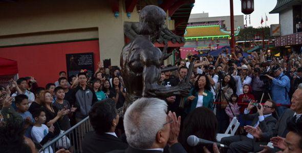 Bruce Lee Statue Unveiling
