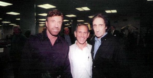 Chuck Norris, Maurice Elmalem and Aaron Banks