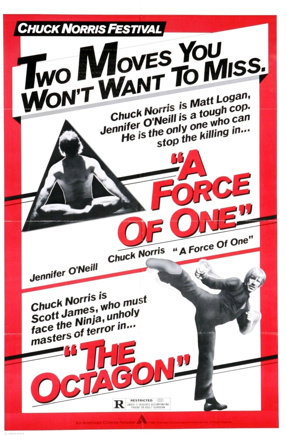 Chuck Norris Hulu A Force of One and The Octagon Poster