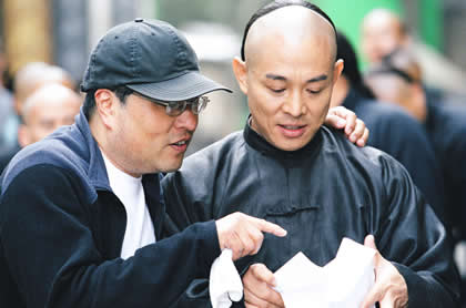Director Ronny Yu and Jet Li from Fearless