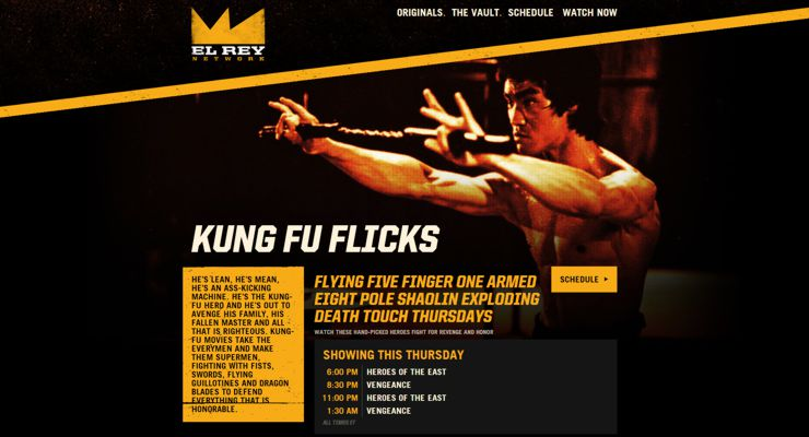 Robert Rodriguez El Rey Network Kung Fu Flicks