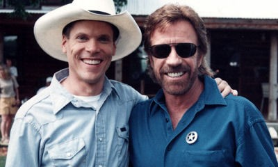 Stephen Quadros and Chuck Norris