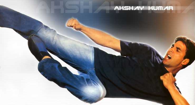Akshay Kumar Flying Kick