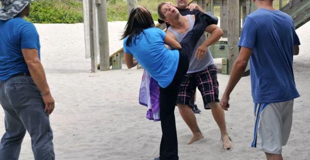 Cynthia Rothrock fights Eric Kovaleski