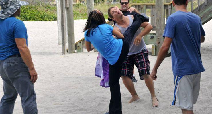 Cynthia Rothrock and Eric Kovaleski Fight Scene