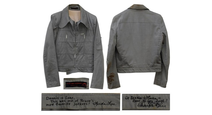 Bruce Lee's Sterling Cooper London Grey Cotton Jacket
