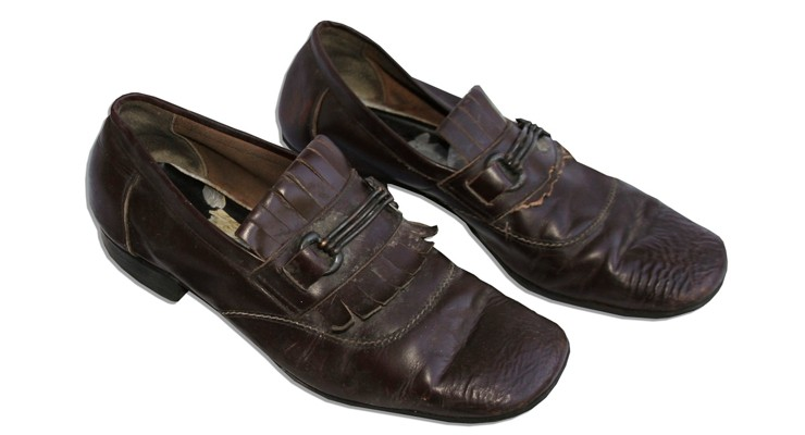 Bruce Lee's Mahogany Leather Loafers