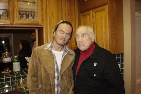 Gene LeBell's Christmas party with Steve Kim