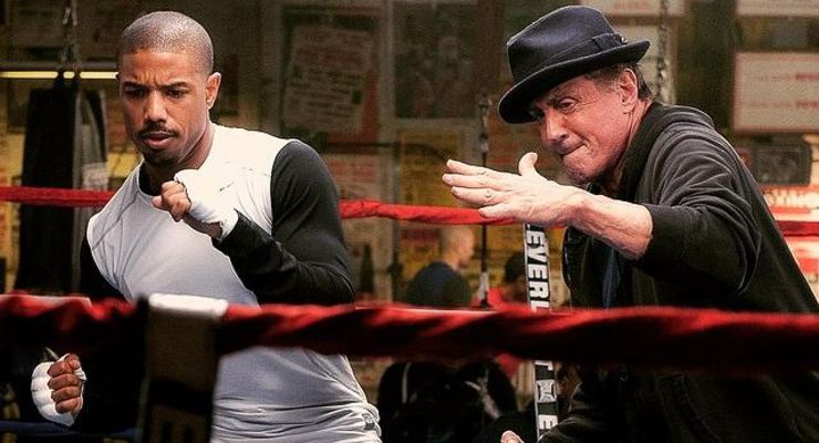 Creed (2015) Creed's Rocky and Donnie in the ring