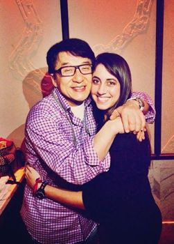 Jackie Chan and Caitlin Dechelle