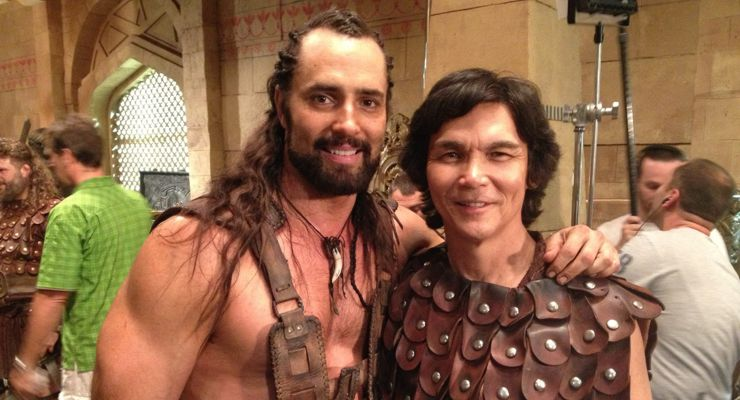 "Victor Webster and Don ""The Dragon"" Wilson The Scorpion King 4"