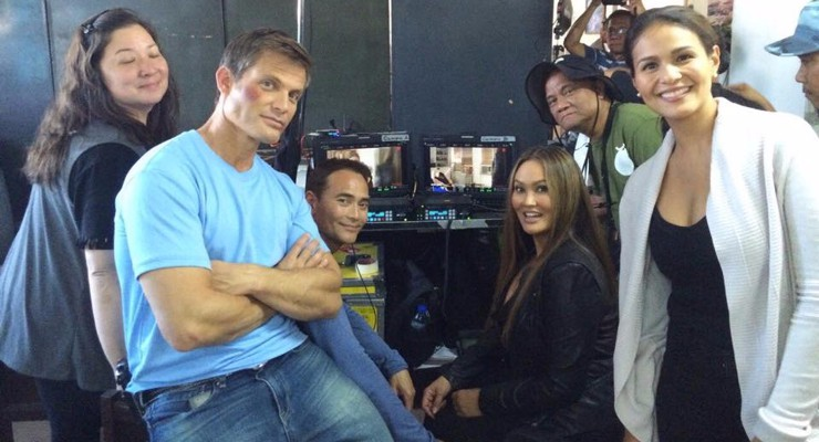 AAloha from Mark Dacascos on the set of SHOWDOWN IN MANILA!