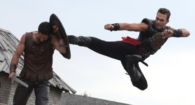 "Darren Shahlavi and Scott Adkins in ""Metal Hurlant"" AKA Heavy Metal"