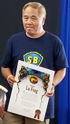 Feng Lu being honored at DRAGONFEST 2018