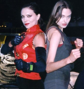 Karen Sheperd and Angolina Golie in Cyborg 2