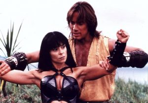 Karen Sheperd and Kevin Sorbo
