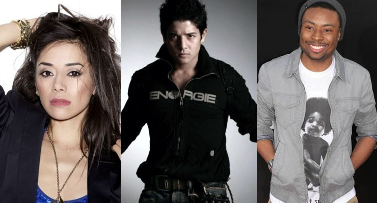 CBS' Rush Hour Cast Jon Foo, Justin Hires and Aimee Garcia
