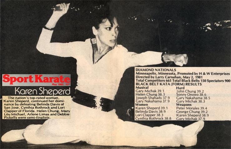 Karen Sheperd in Sport Karate