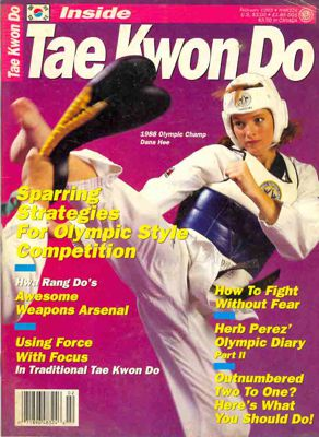 Dana Hee on Inside Tae Kwon Do Cover