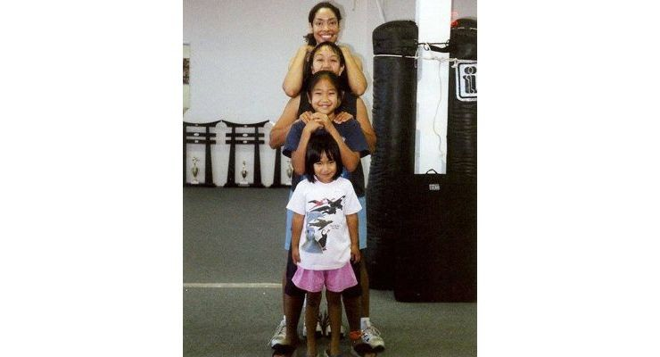 Gina Torres Carrie Wong Tia Wong and Cassidy Wong