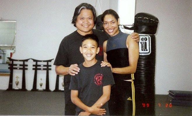 Douglas Wong, Gina Torres and Travis Wong