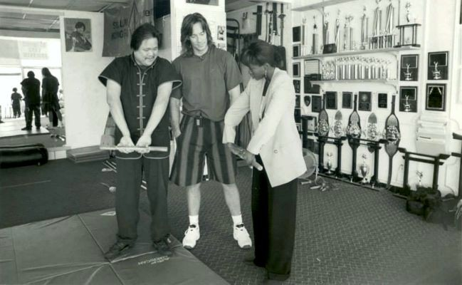 Kevin Sorbo and Gina Torres training with Douglas Wong