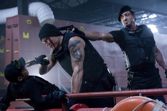 Sylvester Stallone, Jason Statham, Jet Li, The Expendables (2010)