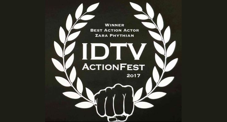 Zara Phythian won Best Action Actor at the IDTV ActionFest 2017.