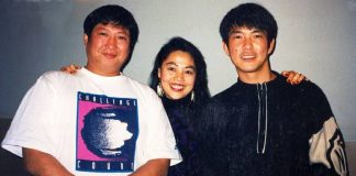 Sammo Hung, Gine Lui and Yuen Biao in Chinatown 1992.