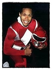 "Erik Betts as ""Red Ranger"" from the original Mighty Morphin Power Rangers"