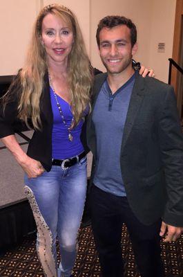 Cheryl Wheeler and Matthew Ziff at the Sunscreen Film Festival
