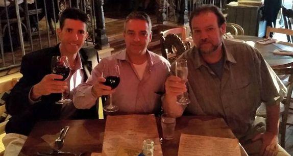 Joe Navara, Shuriz Hishmeh and Tom Renner of Throwing Star Productions
