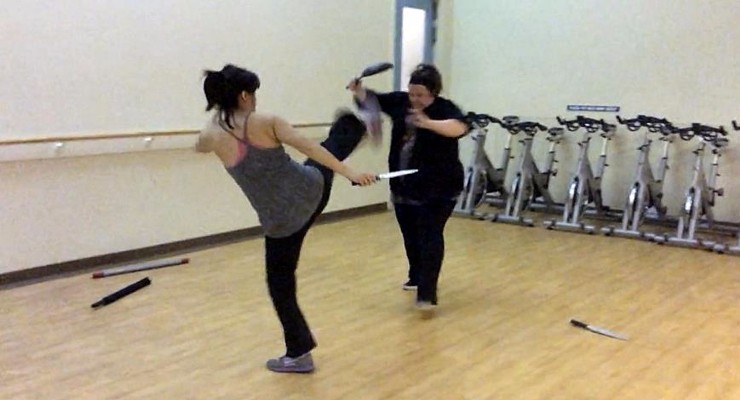 Diana Lee Inosanto training Melissa McCarthy for Spy (2015)