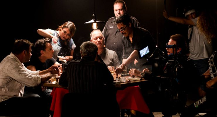 Tom Renner and cast and crew of The Chemist