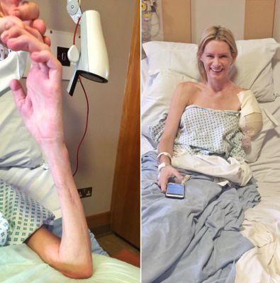 Olivia Jackson in hospital