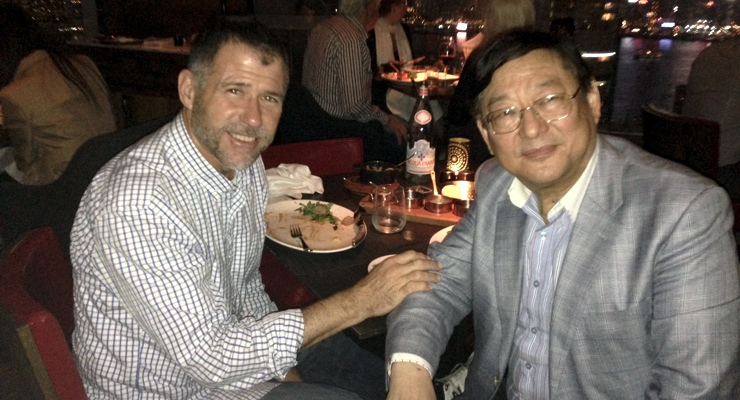 Keith W. Strandberg with legendary Hong Kong producer See-Yuen Ng.