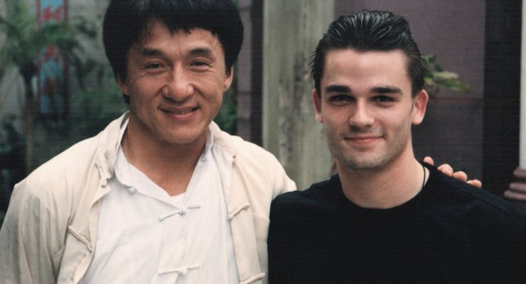 "Jude Poyer on set of ""Jackie Chan: My Stunts"""