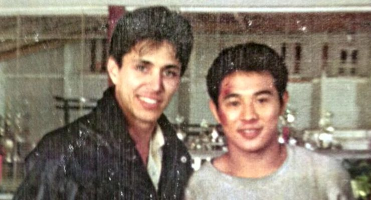 Kenny Perez and Jet Li