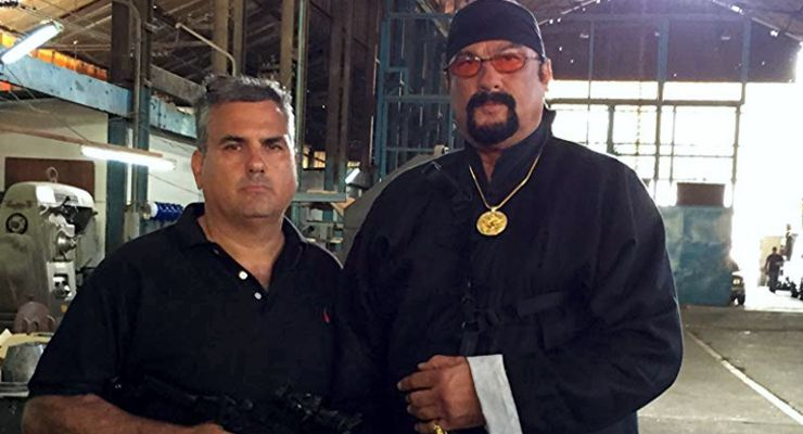 Danniel ZirilliI with Steven Seagal shooting The Asian Connection