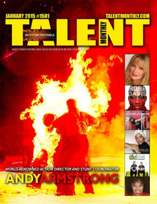 Andy Armstrong cover of Talent Monthly Magazine