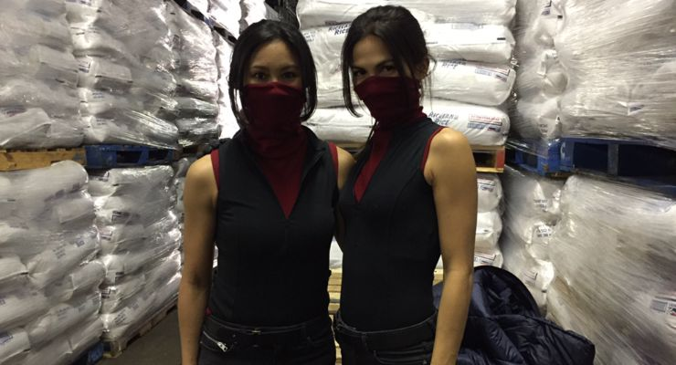 Lauren Mary Kim and Elodie Yung of Daredevil