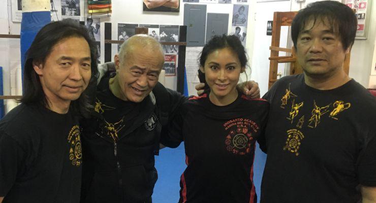 Lauren Mary Kim, Jeff imada and Dan Inosanto
